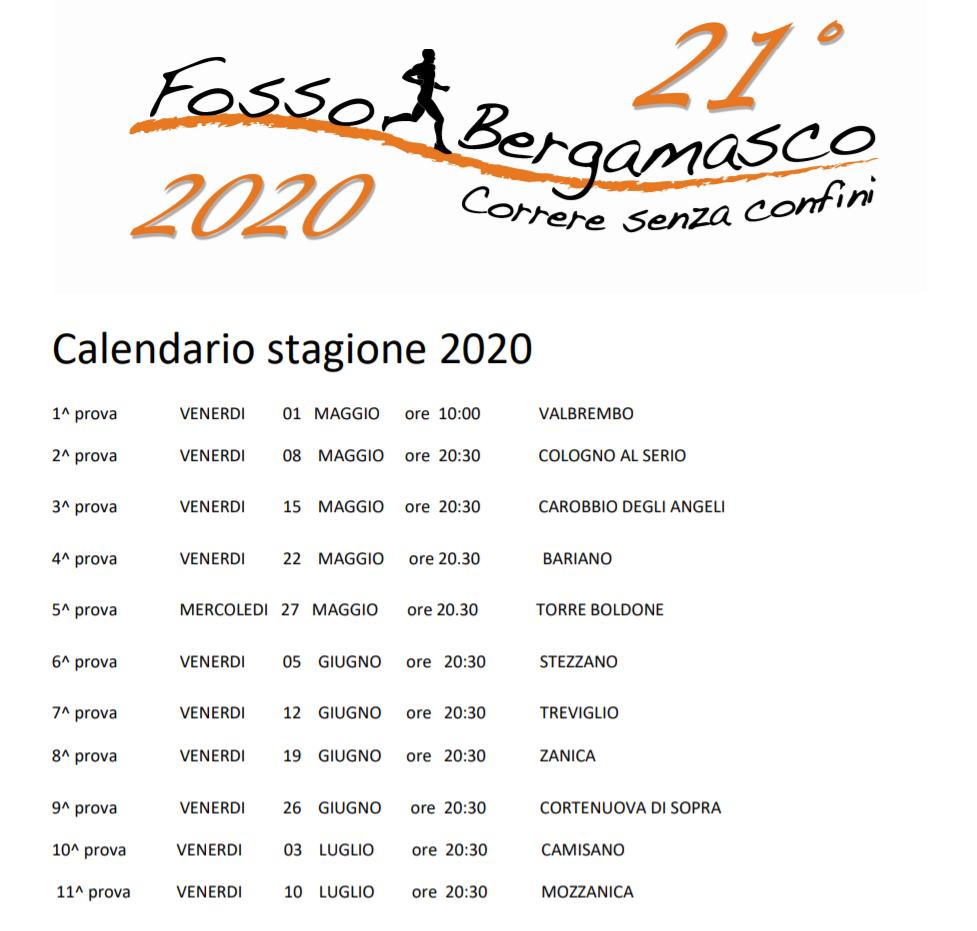 Calendario Fosso Bergamasco 2021 A sei mesi dal Fosso: ecco il calendario del Criterium 2020
